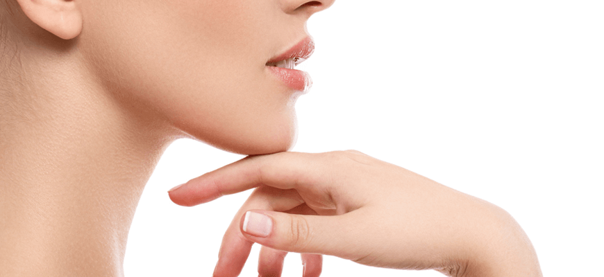 Palisades Vein Center- a woman's profile with her hand on her chin